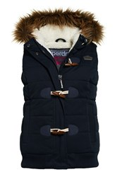 Superdry Microfibre Toggle Puffer Gilet Navy