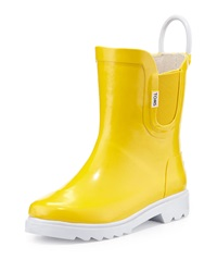 Toms Rubber Rain Boot Yellow Tiny