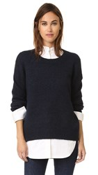 Vince Drop Shoulder Crew Sweater Coastal