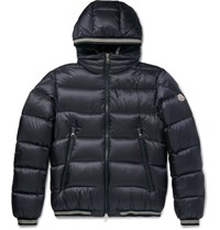 Moncler Jeanbart Quilted Shell Hooded Down Jacket Navy