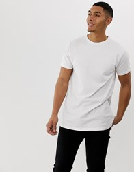 Soul Star Longline T Shirt In White