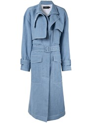 Joseph Structured Trench Coat Blue