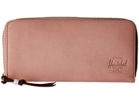 Herschel Avenue With Zipper Leather Ash Rose Nubuck Leather Wallet Handbags Pink