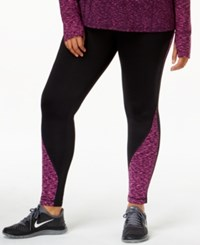 Ideology Plus Size Id Warm Printed Active Leggings Only At Macy's Wicked Purple