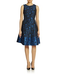 Anne Klein Floral A Line Dress Pacific Combo