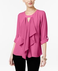 Thalia Sodi Ruffle Front Blouse Only At Macy's Juicy Grape
