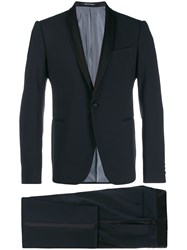 Emporio Armani Shawl Lapel Dinner Suit Blue