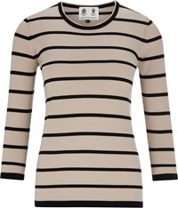 Austin Reed Pure Merino Stripe Jumper Multi Coloured