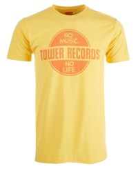 New World Tower Records Graphic T Shirt Yellow