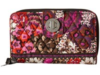 Vera Bradley Turn Lock Wallet Rosewood Wallet Handbags Red
