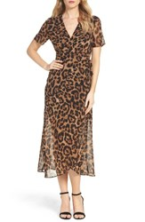 Bardot Women's Leopard Print Wrap Dress