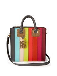 Sophie Hulme Albion Square Striped Leather Tote Multi