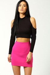 Boohoo Mini Bodycon Jersey Skirt Pink