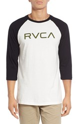 Men's 'Big Rvca' Graphic Three Quarter Baseball T Shirt