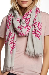 Leigh And Luca Plaid Granite Scarf Pink