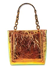 Edie Parker Metallic Chain Strap Tote Bag 60