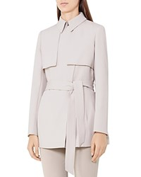 Reiss Lester Trench Style Jacket Chiffon