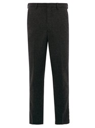 Ami Alexandre Mattiussi Dropped Seat Wool Twill Trousers Grey