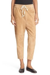 Vince Suede Track Pants Brown
