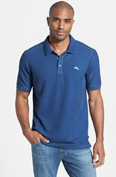 Tommy Bahama Men's Big And Tall 'The Emfielder' Pique Polo Blueberry