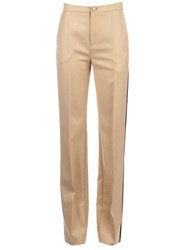 Bouchra Jarrar Wide Tailored Trousers Beige