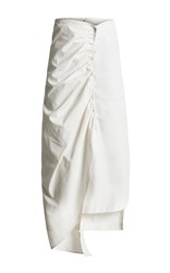 Freya Dalsj0 Pleated White Cotton Skirt