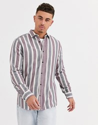 Only And Sons Chalk Stripe Shirt In White