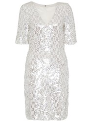 French Connection Snow Sequins Dress Freeway Grey Multi