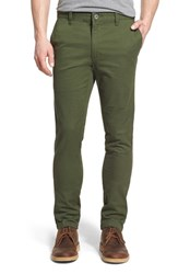 Men's Rvca 'Stapler' Skinny Fit Twill Pants Forest
