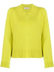 Pringle Of Scotland Co In Lime Cashmere Jumper Green