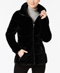 Inc International Concepts Velvet Puffer Coat Only At Macy's Black