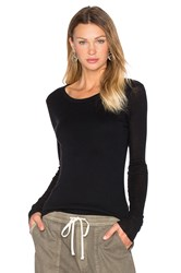 James Perse Cashmere Doubled Long Sleeve Tee Black
