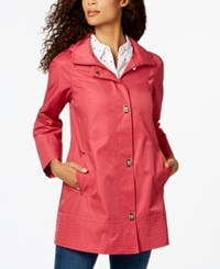 Jones New York Turnkey Hooded Raincoat Rose Violet
