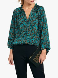 Hush Blaire Blouse Abstract Skin Print