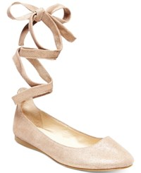 Steve Madden Women's Bloome Lace Up Flats Women's Shoes Dusty Gold