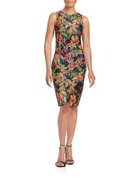Guess Tropical Banded Dress Black Multi