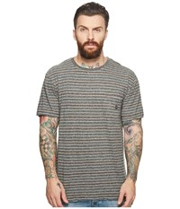 Vissla Flushed Short Sleeve Heathered Knit Pocket Top Charcoal Heather Clothing Gray