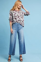 Anthropologie Pilcro Ultra High Rise Cropped Wide Leg Jeans Denim Light
