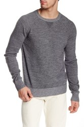 Apolis Alpaca Blend Crew Neck Sweater Gray