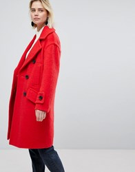 Warehouse Red Coat Red