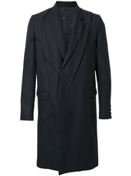 Undercover Stitched Panel Coat Black