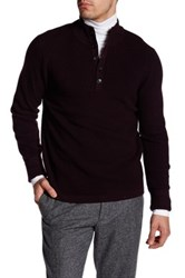Toscano Waffle Knit Pullover Purple