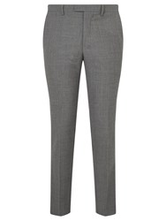 John Lewis Kin By Norcott Textured Slim Fit Suit Trousers Grey