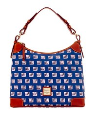 Dooney And Bourke New York Giants Coated Cotton Hobo Navy Giants