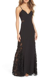 Maria Bianca Nero Women's Shannon Lace Inset Gown