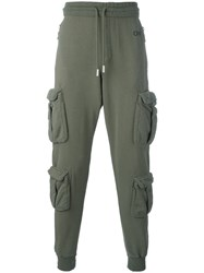 Off White Four Pocket Slouch Trousers Green