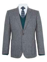 Paul Costelloe Men's Granby Donegal Wool Blazer Grey