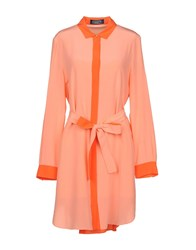 Magaschoni Short Dresses Salmon Pink