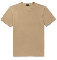 Tom Ford Lyocell And Cotton Blend Jersey T Shirt Camel