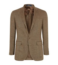 Polo Ralph Lauren Linen Diamond Check Blazer Male Brown